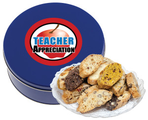 TEACHER APPRECIATION  DAY BISCOTTIS - 1 lb Tin