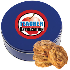 TEACHER APPRECIATION DAY Chocolate Chip Cookie Tin - 1 lb.