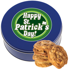 ST. PATRICK'S DAY Chocolate Chip Cookie Tin - 1 lb.