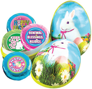 EASTER  EGG - Chocolate Oreos with Easter Messages OR Graphics
