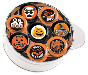 HALLOWEEN - 'Cookie Talk' Message Chocolate Oreos - 16 Pc Tin