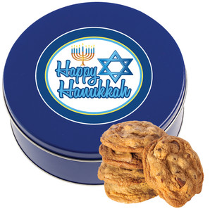 HANUKKAH Chocolate Chip Cookie Tin - 1 lb.