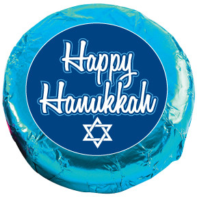 HANUKKAH Chocolate Oreos - Foil-Wrapped with Messages/Graphics  MANY SIZES AVAILABLE!