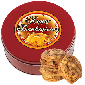THANKSGIVING Chocolate Chip Cookie Tin - 1 lb.