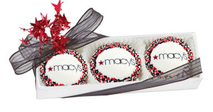 BUSINESS GIFT - CUSTOM OREO TRIOS (Direct Print) - YOUR LOGO  OR MESSAGE