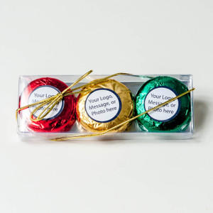 FAVOR - CHOCOLATE OREO 3 PK - CUSTOM - Foil-wrapped with labels