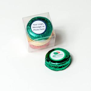 FAVOR - CUSTOM CHOCOLATE OREOS TRIOS - Foil-Wrapped with Custom Labels -