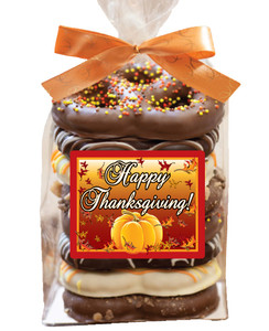 THANKSGIVING Gourmet Pretzel Bag - 8 Pc.- Can Be Customized