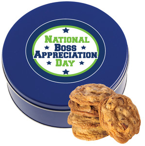 BOSS APPRECIATION DAY Chocolate Chip Cookie Tin - 1 lb.