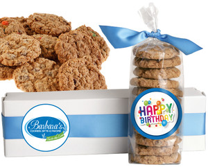 BIRTHDAY FRESH-BAKED CRUNCHY & HEARTY COOKIES - 4 Varieties/ All Sizes: Chocolate Chips, Nuts, M&MS or Cranberry