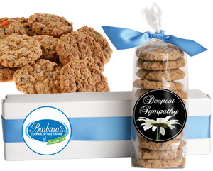 SYMPATHY FRESH-BAKED CRUNCHY & HEARTY COOKIES - 4 Varieties/ All Sizes: Chocolate Chips, Nuts, M&MS or Cranberry