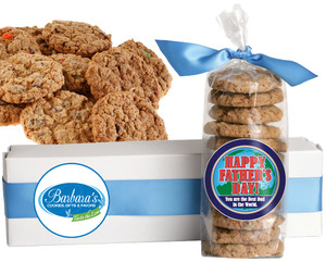 FATHER'S DAY FRESH-BAKED CRUNCHY & HEARTY COOKIES - 4 Varieties/ All Sizes: Chocolate Chips, Nuts, M&MS or Cranberry