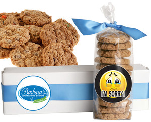 I'M SORRY FRESH-BAKED CRUNCHY & HEARTY COOKIES - 4 Varieties/ All Sizes: Chocolate Chips, Nuts, M&MS or Cranberry