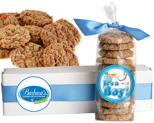 IT'S A BOY! FRESH-BAKED CRUNCHY & HEARTY COOKIES - 4 Varieties/ All Sizes: Chocolate Chips, Nuts, M&MS or Cranberry