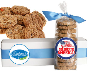 AMERICA FRESH-BAKED CRUNCHY & HEARTY COOKIES - 4 Varieties/ All Sizes: Chocolate Chips, Nuts, M&MS or Cranberry