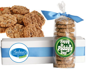 ST. PATRICK'S DAY FRESH-BAKED CRUNCHY & HEARTY COOKIES - 4 Varieties/ All Sizes: Chocolate Chips, Nuts, M&MS or Cranberry