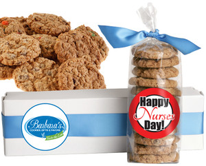 NURSES FRESH-BAKED CRUNCHY & HEARTY COOKIES - 4 Varieties/ All Sizes: Chocolate Chips, Nuts, M&MS or Cranberry