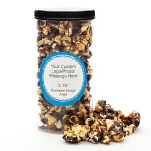 BUSINESS GIFT - GOURMET POPCORN - Canister (Customize with any Text, Photo, Logo)