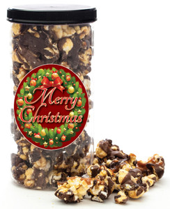CHRISTMAS  or HAPPY HOLIDAY GOURMET POPCORN - Canister (Customize with any Text, Photo, Logo)