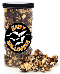 HALLOWEEN GOURMET POPCORN - Canister (Customize with any Text, Photo, Logo)