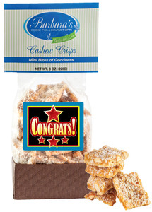CONGRATULATIONS  Cashew Crisps - Can Be Customized