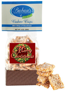 CHRISTMAS/ HOLIDAY Cashew Crisps - Can Be Personalized!