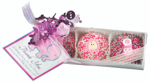 BABY GIRL - 3 Pc. Boxed Decorated Chocolate Oreos SPECIAL ORDER