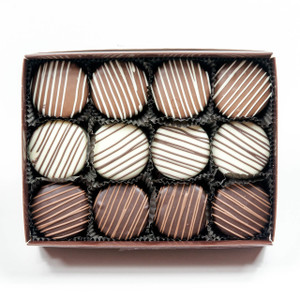 Decorated Chocolate Oreos - 12 Pc Gift Box