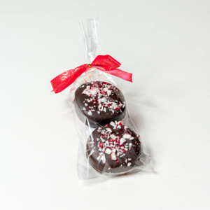 Christmas Peppermint Chocolate Oreos Duo - Favor Bag with ribbon