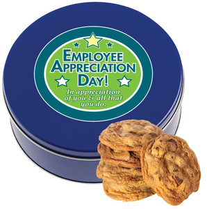 EMPLOYEE APPRECIATION Chocolate Chip Cookie Tin - 1 lb.