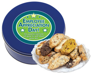 EMPLOYEE APPRECIATION BISCOTTIS - 1 Lb. Tin