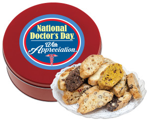 DOCTOR APPRECIATION BISCOTTIS - 1 Lb. Tin