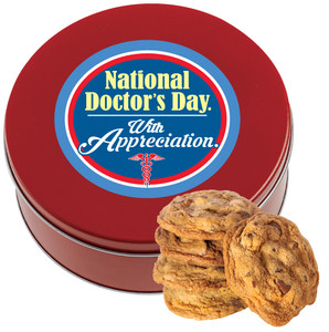 DOCTOR APPRECIATION Chocolate Chip Cookie Tin - 1 lb.