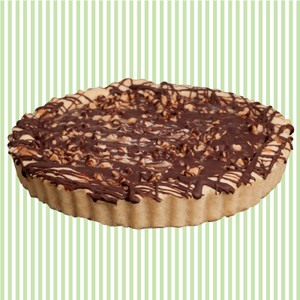 Caramel Chocolate Cookie Pie