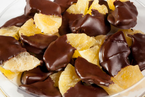Chocolate Dipped Dried Pineapple