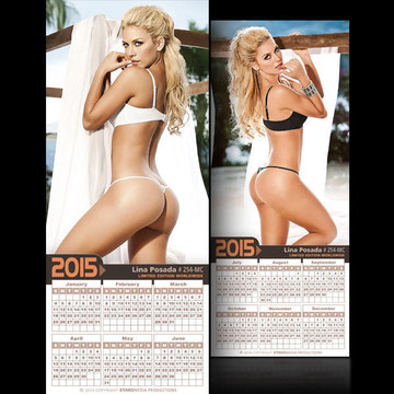 Lina Posada [ # 254-MC ] COLLECTIBLE MIN-CALENDAR 2015-HOT AND SEXY