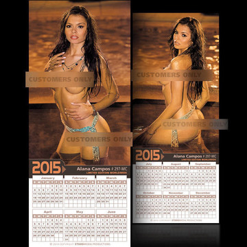 Alana Campos [ # 297-MC ] COLLECTIBLE MIN-CALENDAR 2015-HOT AND SEXY
