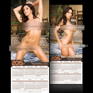 Taya Parker [ # 316-MC ] COLLECTIBLE MIN-CALENDAR 2015-HOT AND SEXY
