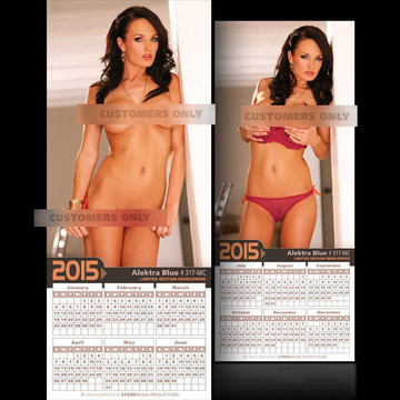 Alektra Blue [ # 317-MC ] COLLECTIBLE MIN-CALENDAR 2015-HOT AND SEXY