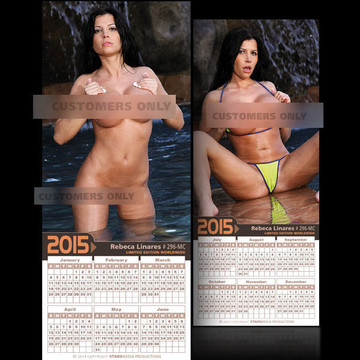 Rebeca Linares [ # 296-MC ] COLLECTIBLE MIN-CALENDAR 2015-HOT AND SEXY
