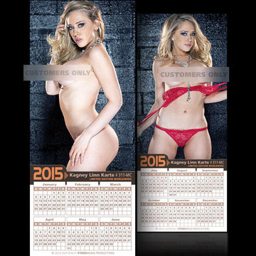 Kagney Linn Karte [ # 311-MC ] COLLECTIBLE MIN-CALENDAR 2015-HOT AND SEXY