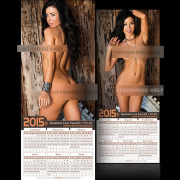 Gemma Lee Farrell [ # 309-MC ] COLLECTIBLE MIN-CALENDAR 2015-HOT AND SEXY