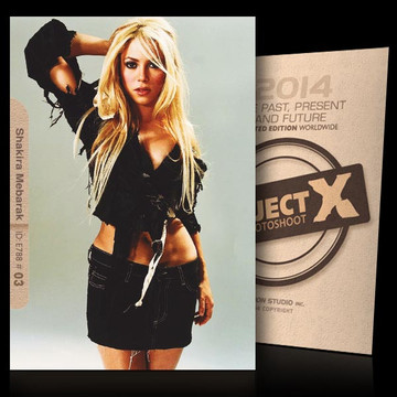 Shakira Mebarak / In Mini-Skirt [ ID: E788 #XX ] PROJECT X LIMITED EDITION CARDS