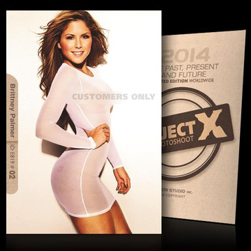 Brittney Palmer / Transparant [ ID: E819 #XX ] PROJECT X LIMITED EDITION CARDS