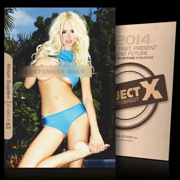 Rhian Sugden / Hot In Blue [ ID: E852 #XX ] PROJECT X LIMITED EDITION CARDS