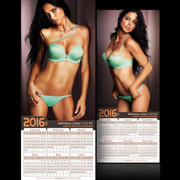 Adriana Lima [ # 322-MC ] COLLECTIBLE MIN-CALENDAR 2016