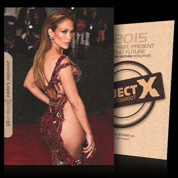 Jennifer Lopez / Beautiful Dress[ ID: F261 #XX ] PROJECT X LIMITED EDITION CARDS