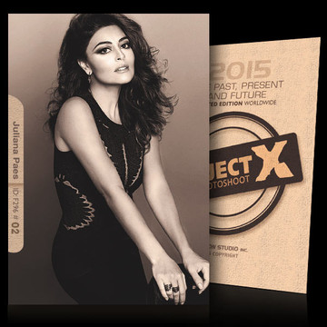 Juliana Paes / In Black [ ID: F296 #XX ] PROJECT X LIMITED EDITION CARDS