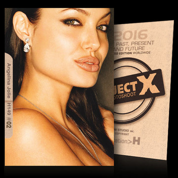 Angelina Jolie / Beautiful Face [ ID: H149 #XX ] PROJECT X LIMITED EDITION CARDS