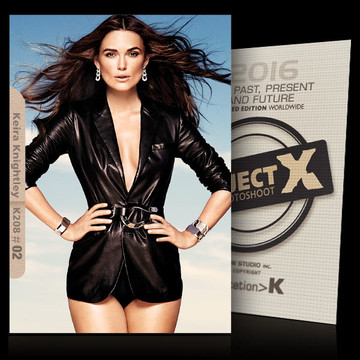 Keira Knightley / In Sexy Black [ ID: K208 #XX ] PROJECT X LIMITED EDITION CARDS